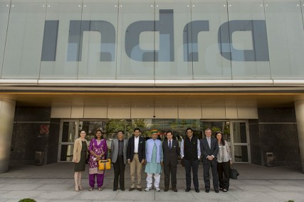 Indra shows the Indian Leaders its technology leadership